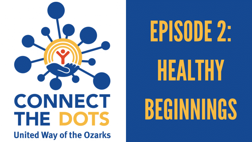 united way logo with text that reads connect the dots, episode 2: healthy beginnings