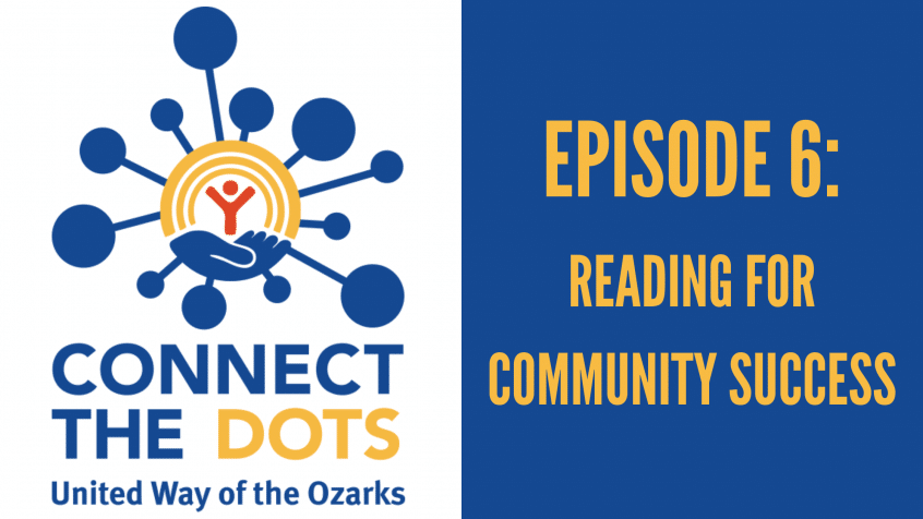 "connect the dots logo with a heading that reads ""episode 6: reading for community success"""